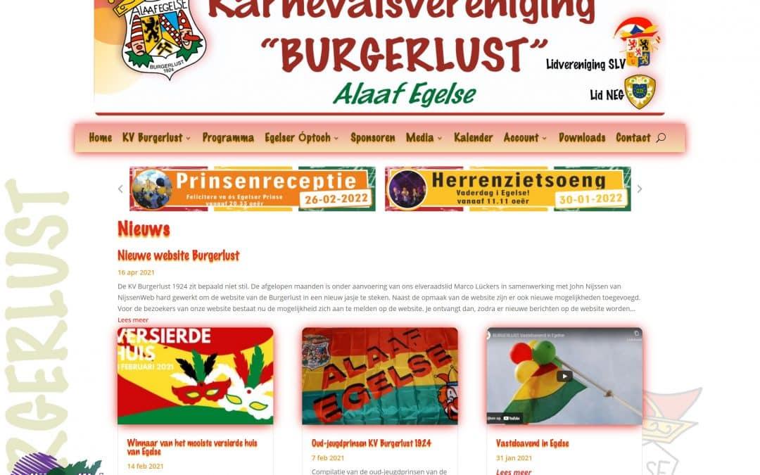 Nieuwe website Burgerlust